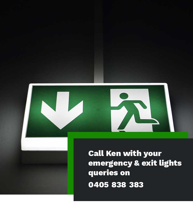 emergency and exit lighting installation electrician Sydney