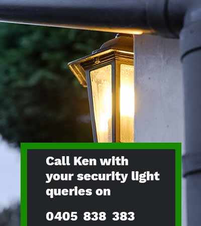 outdoor security lights installer electrician Sydney mobile