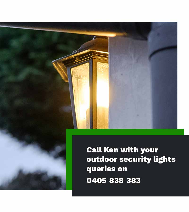 outdoor security lights installer electrician Sydney